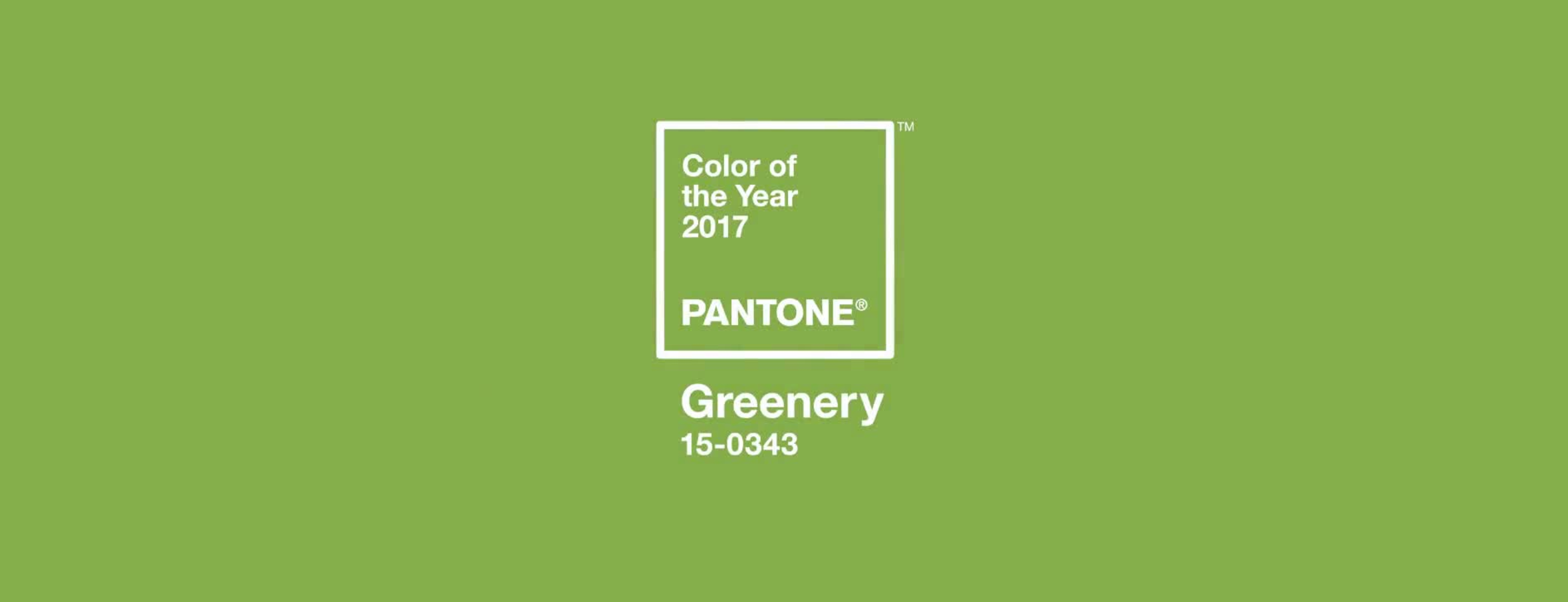 Pantone Colour of the Year #Greenery