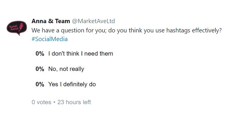 Mal Tweet Example Twitter Poll Copywriting And Social Media