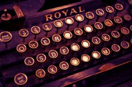 web copy: a typewriter