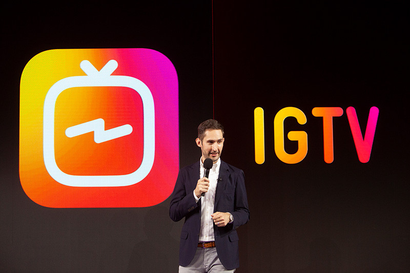 Kevin Systrom, introducing IGTV on live Instagram
