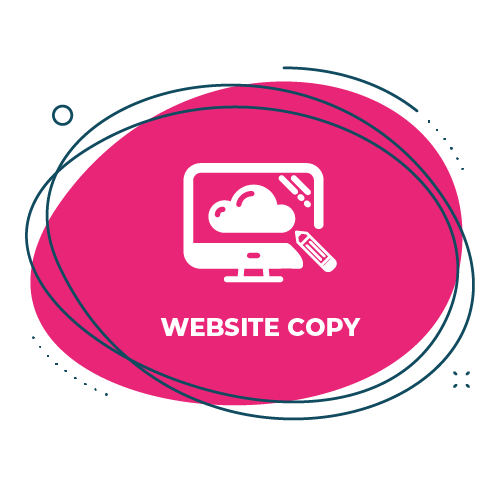 Website content icon on pink background