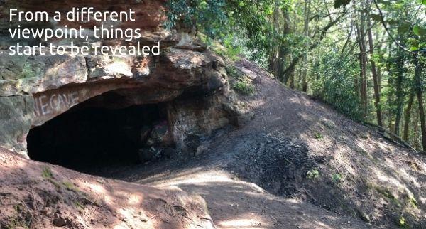 Burwardsley Woods in Cheshire cave